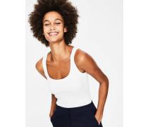 Basic-Trägershirt White Damen