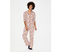 Gemütlicher Webschlafanzug Pink Damen