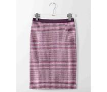 Bleistiftrock aus britischem Tweed Pink Damen