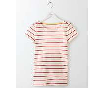 Short Sleeve Breton Red Damen