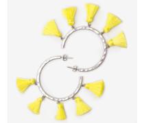 Kreolenohrringe mit Quasten Yellow Damen