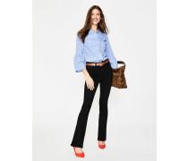Schmale Marylebone Bootcut-Jeans Black Damen