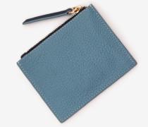 Münztasche aus Leder Blue Damen