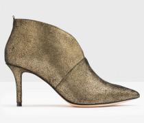 Alexa Stiefel mit Absatz Gold Damen