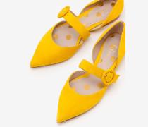 Evie Spangenschuhe mit spitzer Zehenpartie Yellow Damen