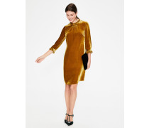 Adora Samtkleid Gold Damen