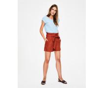 St. Ives Paperbag-Shorts Brown Damen