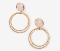 Ohrringe mit Halbedelsteinen Pink Damen