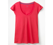 Superweiches Flatter-T-Shirt Pink Damen