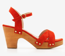 Olivia Clog-Sandalen Orange Damen