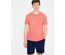 Flammgarn-Shirt mit Rundhalsausschnitt Orange Herren