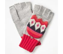 Handschuhe mit Fair-Isle-Muster Silver Damen