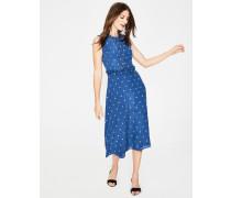 Effie Seidenkleid Blue Damen