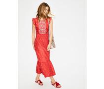 Lucinda Kleid mit Lochstickerei Red Damen