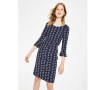 Newlyn Jacquard-Kleid Navy Damen