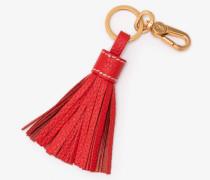 Schlüsselring aus Leder mit Quaste Red Damen