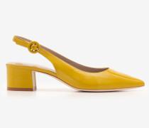 Annie Slingpumps mit spitzer Zehenpartie Yellow Damen
