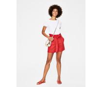 St. Ives Paperbag-Shorts Red Damen