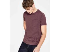 Flammgarn-Shirt mit Rundhalsausschnitt Purple Herren