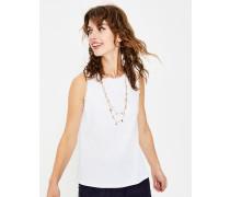 Jersey-Trägershirt mit Rüschen White Damen