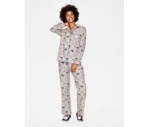 Gemütlicher Webschlafanzug Grey Damen