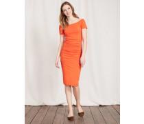 Schulterfreies Kleid mit Raffung Red Damen