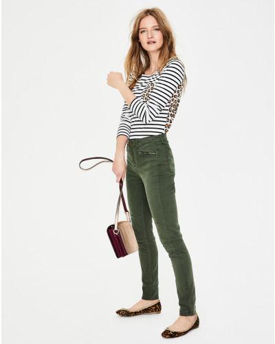 Brighton Biker-Jeans Green Damen