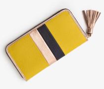 Geldbörse aus Leder Yellow Damen