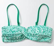 Amalfi Bandeau-Bikinioberteil Green Damen