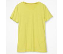 Basic-T-Shirt mit Rundhalsausschnitt Yellow Damen