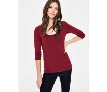 T-Shirt mit doppellagiger Vorderseite Purple Damen