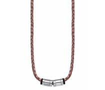 Halskette aus Leder & Edelstahl