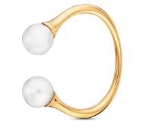 Ring Pure White aus vergoldetem 925 Sterling Silber mit Süßwasser-Zuchtperlen-50