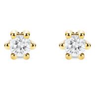 Ohrstecker aus 585 Gold mit 0.08 Karat Diamanten
