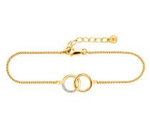Armband Linked In aus vergoldetem 925 Sterling Silber mit Topasen