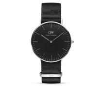 Quarzuhr Classic Black Cornwall DW00100151