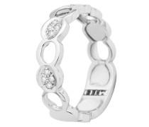 Ring aus 375 Weißgold mit 0.18 Karat Diamanten-52