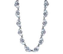 Halskette Petite Glamour aus Metall mit Glassteinen