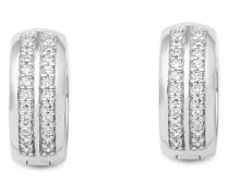 Creolen aus 925 Sterling Silber mit Zirkonia