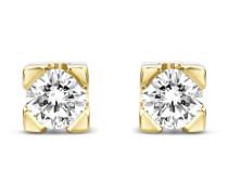 Ohrstecker aus 585 Gold mit 0.14 Karat Diamanten