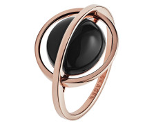 Ring aus Edelstahl mit Onyx