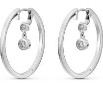 JETTE Silver Damen-Creole 925er Silber 1 Zirkonia