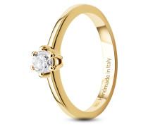 Ring aus 585 Gold mit 0.25 Karat Diamant-58