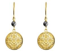 Ohrhänger Morocco Nights aus vergoldetem 925 Sterling Silber mit Hämatiten