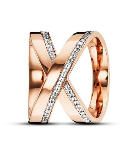 Ring Sensitive Dancer aus rosévergoldetem 925 Sterling Silber mit Topasen-58