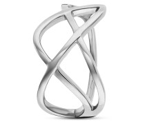 Ring Fluid Curves aus 925 Sterling Silber-50