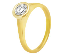 Ring aus 585 Gold mit 0.3 Karat Diamant-56