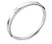 Ring aus 750 Weißgold mit 0.06 Karat Diamant-58