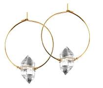 Koshikira Damen-Creole Silber/gold Bergkristall