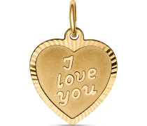 Anhänger I Love You aus 375 Gelbgold